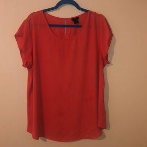 Ann Taylor coral blouse